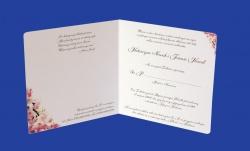 Zaproszenia - Ślubne - Natural  Art - Kwiaty 01