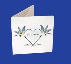Zaproszenia - Ślubne - Natural  Art - Kwiaty 05