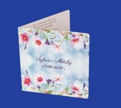 Zaproszenia - Ślubne - Natural  Art - Kwiaty 06