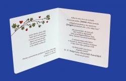 Zaproszenia - Ślubne - Natural  Art - Ptaki 02