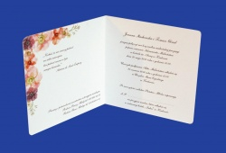 Zaproszenia - Ślubne - Natural  Art - Ptaki 03