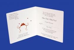 Zaproszenia - Ślubne - Natural  Art - Ptaki 04