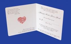 Zaproszenia - Ślubne - Natural  Art - Serca-04