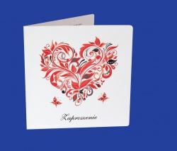 Zaproszenia - Ślubne - Natural  Art - Serca-06