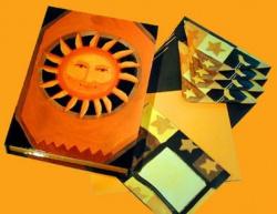 """Papeterie - W pudełkach - Papeteria w etui """"Słońce"""""""