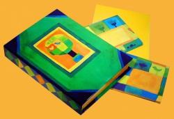 """Papeterie - W pudełkach - Papeteria w etui """"Z zielonym drzewkiem"""""""