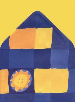 Papeterie - Z nadrukiem - Papeteria szachownica granatowa ze słoneczkiem