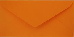 Koperty - 8x16 cm - do zaproszeń - Koperty do zaproszeń pomarańczowa nr 43