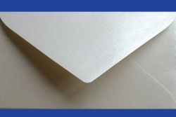 Koperty - 8x16 cm - do zaproszeń - Koperty do zaproszeń SD srebrna