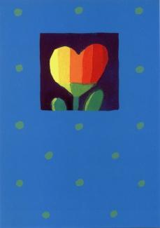 Kartki - Inne - Karnet 005 z serduszkiem