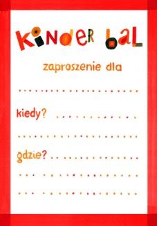 """Zaproszenia - Na kinderbal - Zaproszenie """"Pionowe"""""""