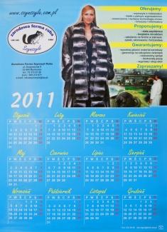 Usługi - Kalendarze - Kalendarz jednoplanszowy
