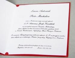 Zaproszenia - Ślubne - Wkładka do zaproszeń - Wkładka do zaproszenia